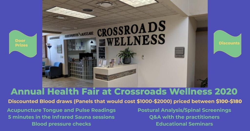 Annual Health Fair at Crossroads Wellness 2020 Flyer