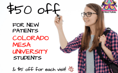 Colorado Mesa University & Western Colorado Community College Students Chiropractic Patient Special in Grand Junction.