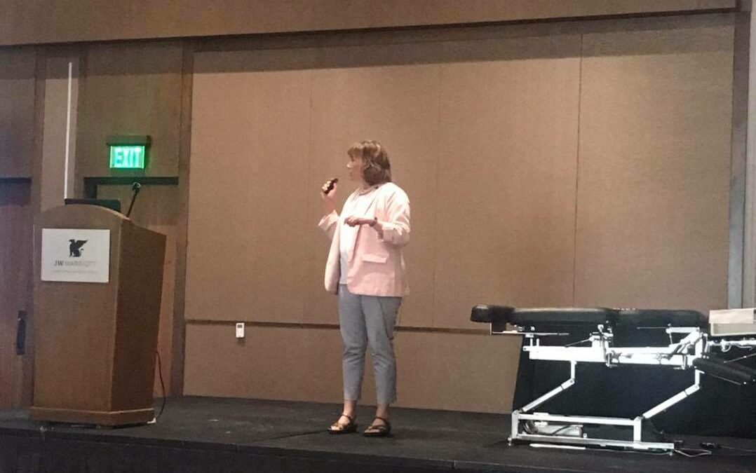 Dr. Gochee at Nutri West Annual Symposium 2021 teaching her style of chiropractic and functional medicine.